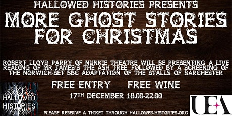 Hallowed Histories Present - More Ghost Stories for Christmas tickets