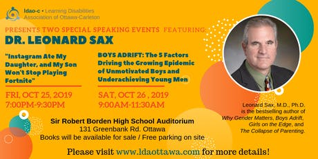 The LDAO-C Presents Dr. Leonard Sax tickets