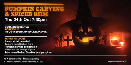 Pumpkin Carving & Spiced Rum tickets