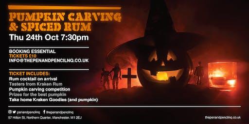 Pumpkin Carving & Spiced Rum