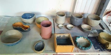 Hand Built Ceramics Drop-in classes, Saturdays 10.30am - 1pm, October - December 2019 tickets