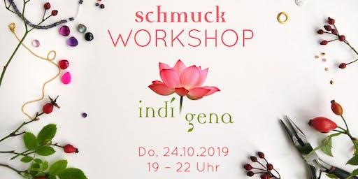 Schmuck-Workshop mit indígena bei Allerhand am 24.10.2019