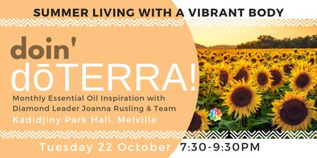PERTH doin' dōTERRA - Summer Living with a Vibrant Body tickets