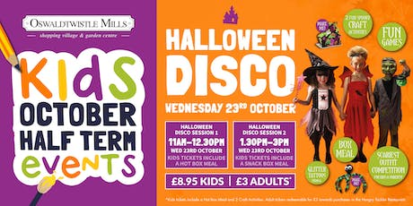 Kids Halloween Party Wednesday 23rd October 1.30pm-3pm tickets