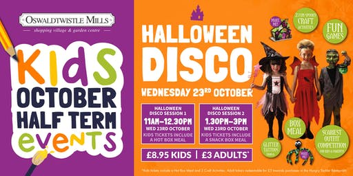 Kids Halloween Party Wednesday 23rd October 1.30pm-3pm