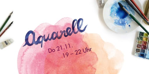 Aquarellworkshop bei Allerhand Concept Store am 21.11.2019