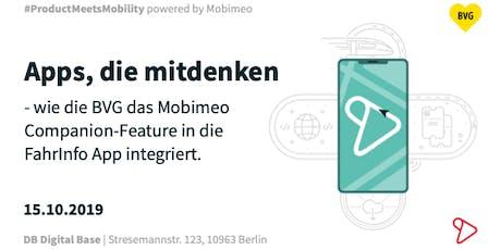Apps, die mitdenken: Integration des Companion in die BVG Fahrinfo-App Tickets
