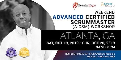 Weekend Advanced Certified Scrum Master Workshop – Atlanta