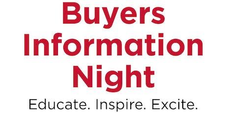 Buyers Information Night  tickets