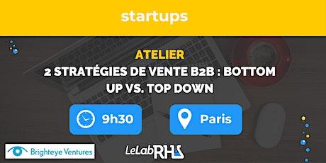 """Formation : """"2 stratégies pour vendre en B2B : bottom-up vs. top-down"""" billets"""