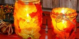 DIY Leaf Mason Jar Class