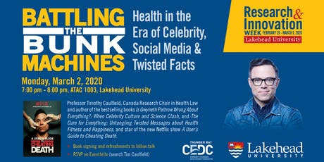 Tim Caulfield: Battling the Bunk Machines 2020 tickets