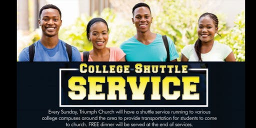 College Shuttle to Triumph Church
