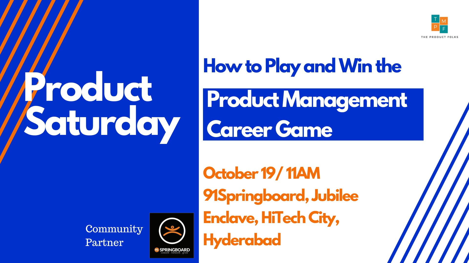 Product Saturdays Hyderabad - A Product Management Event