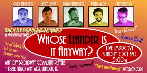 "Live Improv - ""Whose Leander is it Anyway?"""