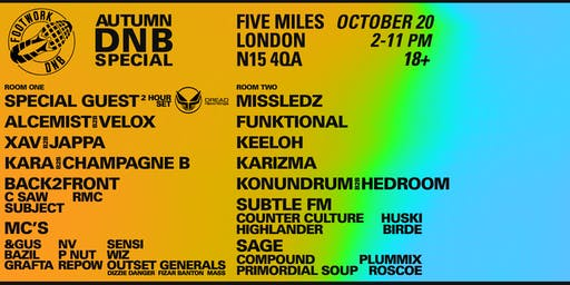 Footwork DNB Autumn Special: Alcemist & Velox's Birthday Bash