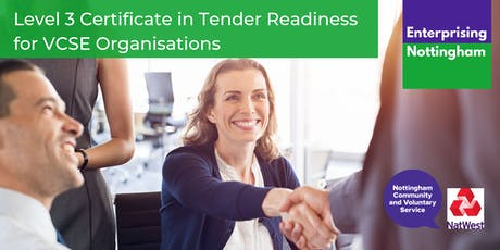 Level 3 Certificate in Tender Readiness for VCSE Organisations  tickets