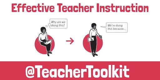 Effective Teacher Instruction - Manchester