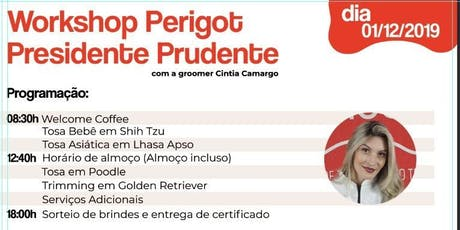 Workshop Perigot- Presidente Prudente ingressos