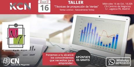 """Taller: """"Técnicas de Prospección de Ventas"""" por Teresa Lorenzo entradas"""