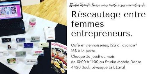 Rencontres de réseautage entre femmes entrepreneurs- women's networking