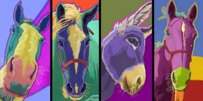 Horse-Mule-Donkey Pop Art Pets Painting Party at B