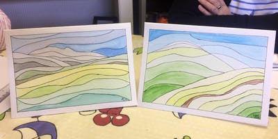 Watercolour card-making