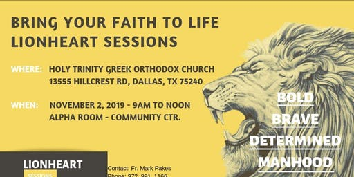 LIONHEART SESSIONS - The Pursuit - Hosted by Holy Trinity Men's Fellowship