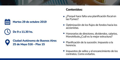 Conferencia sin cargo - Planificación fiscal para la empresa pyme