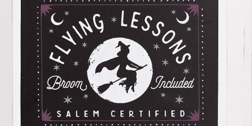 Flying Lessons Halloween Chalk event at Joan Kennedy's