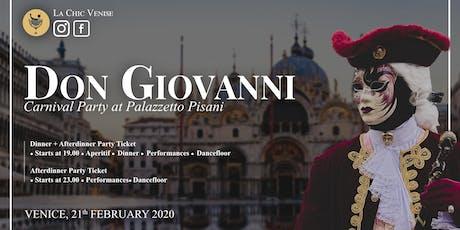 Carnival at Palazzetto Pisani - il Don Giovanni - biglietti