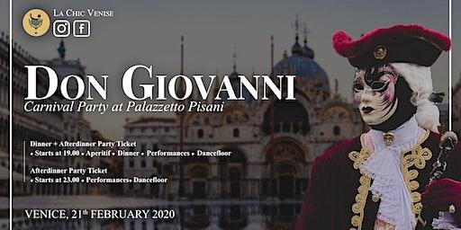 Carnival at Palazzetto Pisani - il Don Giovanni -
