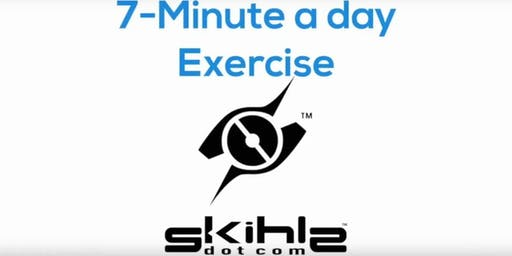 skihlz 7 minute workout at 7PM. $7 donation to charity for each participant