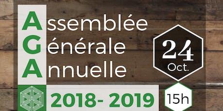 Assemblée générale annuelle 2018-2019 billets