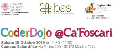 CoderDojo @Ca'Foscari - Mestre, 19 ottobre 2019 biglietti