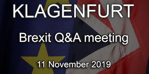 Klagenfurt - British Embassy Brexit Q&A Event