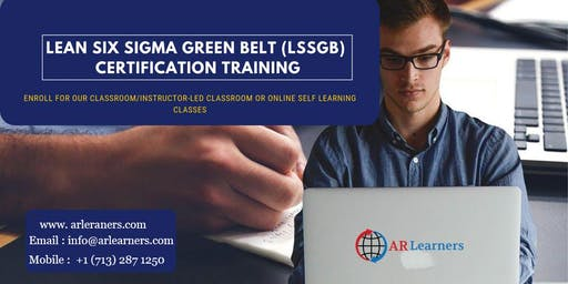 LSSGB 4 days Certification Training in Richmond, VA, USA