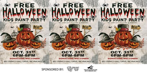 Free Halloween Kids Paint Party