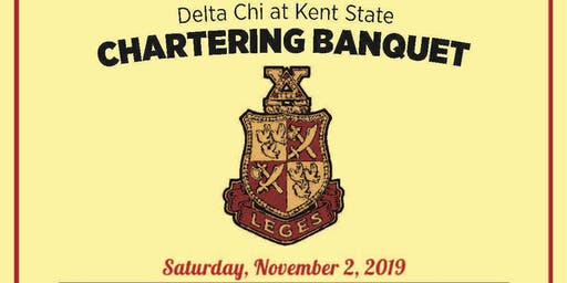 Delta Chi Kent State Colony Chartering Banquet