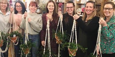 Macrame Plant Hanger Workshop at Minikin Art Cafe