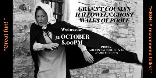 Granny Cousins Halloween Ghost Walk of Old Poole Town