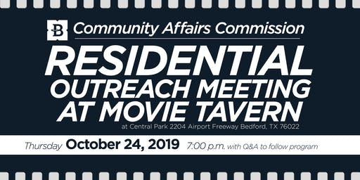October 24, 2019 Residential Outreach