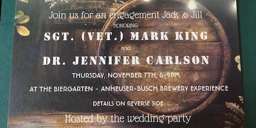The Biergarten - Anheuser-Busch | Mark & Jenn's Engagement Jack & Jill