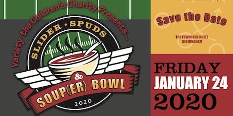 Variety Slider, Spuds and Soup(er)Bowl tickets