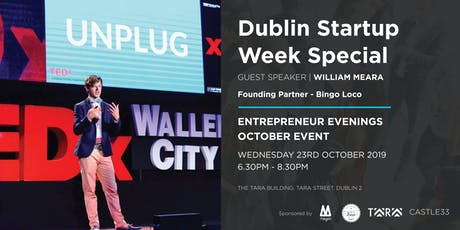 Entrepreneur Evenings - Startup Week Dublin Special with speaker Will Meara tickets