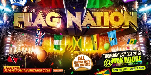 Flag Nation - London's Biggest Uni Link Up