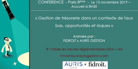 Conférence Auris Gestion x  Fidroit 13/11/ 2019 -  Formation DDA/IAS billets