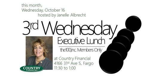 3rd Wednesday Executive Lunch | the100,inc. Members Only