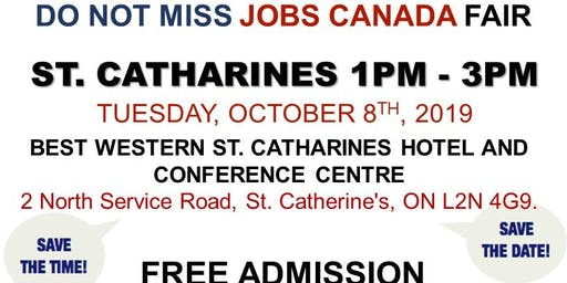 St. Catharines Job Fair – October 8th, 2019