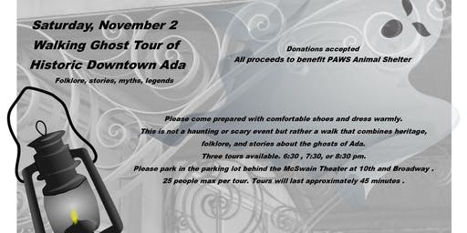 Walking Ghost Tour Historic Downtown Ada